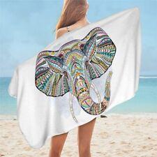 3D Indian Elephant Stripes Boho Animal Travel Holiday Beach Bath Summer Towel