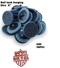 """50 Pc 2"""" Fine Roloc Scotch Brite Roll Lock Surface Sanding Disc Made in USA"""