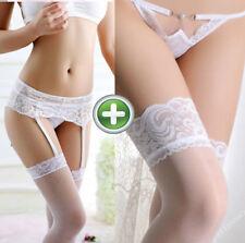 Weiss straps supporto Reggicalze Set Con Calze Biancheria Intima matrimonio XS S M L ferani
