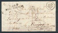 1830 Lettre P66P NEUF-BRISACH +DEB36 TOURS + DEB. 32 BORDEAUX HAUT-RHIN P4213