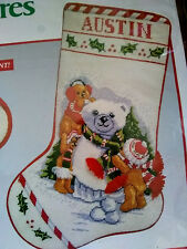 New listing Needle Treasures Needlepoint Snow Bears Stocking Christmas Stocking Kit #06851