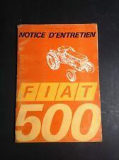 Tracteur - Fiat 500 - Trattori - Notice - Manuel d'entretien - B17