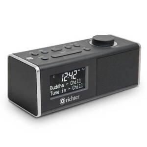 Richter Wake DAB+ Digital Alarm Clock Radio with Bluetooth Audio (BLACK)