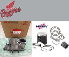 NEW 2000-2001 HONDA CR250R OEM CYLINDER W VERTEX PISTON KIT & GASKETS and HEAD