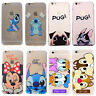 Coque Housse doux TPU Ultra-Fine Stitch Pug Dog Disney Pour iPhone X/6S/7 8 Plus