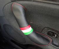 ALFA ROMEO 147 GT 156 copri maniglia portiera Dx e Sx PELLE NERA