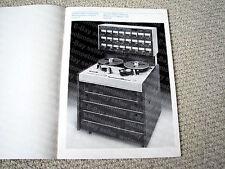 MAKE OFFER - Studer A-800 multi-track open reel deck brochure, RARE
