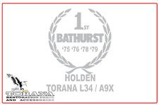 Bathurst Tribute Sticker, Holden Torana L34/A9X - Small