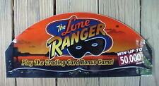 The LONE RANGER Masked Man Old Vintage Casino Slot Machine Top Glass Sign 19""