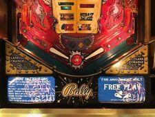 Theatre Of Magic TOM Pinball Machine Glowing Instruction Card Kit EL Panel Bally
