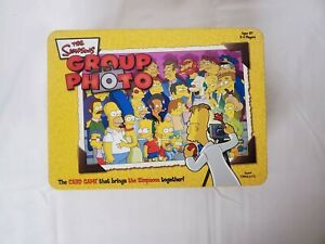 The Simpsons Group Photo Card Game Collectors edition tin!! Full Game! Nib