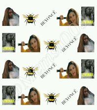 Beyonce Nail art decals (water decals)  20 per sheet