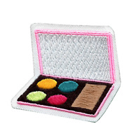 Makeup Palette Embroidered Iron On Patch