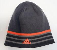 Adidas ClimaWarm Reversible Gray & Orange Beanie Skull Cap Adult One Size NWT