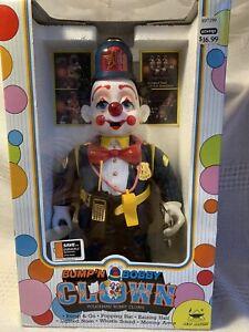 Bump'n Bobby Clown Policeman 1989 New Bright #435 Battery Op NIB