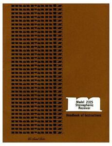 Marantz 2325 Receiver  Owner's Manual - Operating Instructions - Color Print