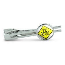 Share The Road Bicycle Basic Yellow Sign Men's Tie Clip Tack Bar