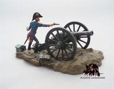 Diorama Atlas Canon Gribeauval 8 livres + Artilleur Campagne Napoléon Gunpowder