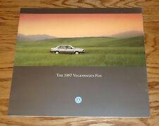 Original 1987 Volkswagen VW Fox Deluxe Sales Brochure 87