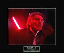 "STAR WARS ""The Force Awakens"" Han Solo's Death 8""x10"" Pic - 11""x14"" Black Matted"