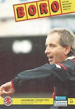 Middlesbrough v Swindon Town - Div 2 - 7/12/1991 - Football Programme
