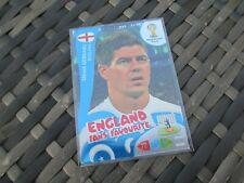 Adrenalyn XL World Cup 2014 #336 Steven Gerrard England Fans' Favourite Card UK