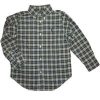 Boys Ralph Lauren Bottle Green Checked Shirt LS sizes 4-20 yrs rrp£45 New