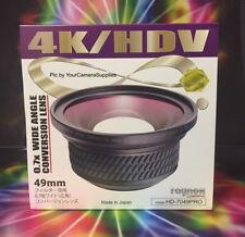 Raynox HD-7049 PRO 0.7x WIDE ANGLE LENS 49mm to 4K HDV SONY NEX-C3 5N X5 X3
