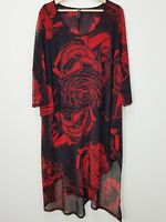[ TS TAKING SHAPE ] Womens Floral Rose Print Dress  | Size M or AU 18 / US 14