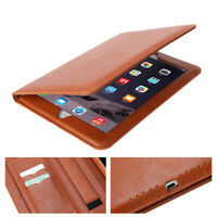 NEW Premium Genuine Leather Smart Case Cover For Apple iPad 2/3/4 Retina Display
