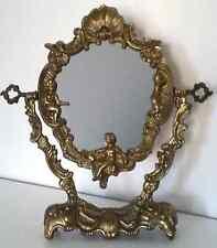 Antiker Kosmetikspiegel -Vintage filigran  Tischspiegel - Schminkspiegel Messing