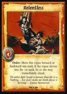Warlord CCG - Warlord Saga of the Storm: Relentless (Rare Action WSS)