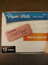 70521 Paper Mate Pink Pearl Block Eraser Large Size Box Of 12