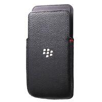 Genuine BlackBerry Leather Pocket Pouch Case Cover for BlackBerry Z30 - Black