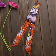 2pc/Lot Charming Print Small Bag Handle Scarf Silk Headband Necktie Wristband