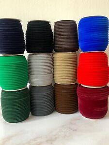 High Quality Velvet Piping Bias Binding -10mm Wide - Price Per Metre