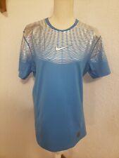 Nike Men`s Pro Hypercool Dri-FIT Max SS Training Blue/Silver  Size L