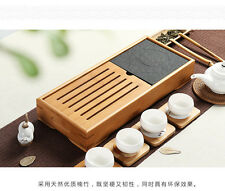 Bambù Gongfu Tea vassoio d'Pietra tavolo teatable Tabella 39x17cm