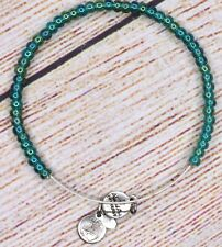 Alex and Ani Caribbean Beaded Bangle Silver Bracelet HTF