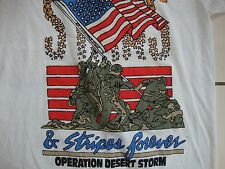 "Vintage OPERATION DESERT STORM ""Stars and Stripes Forever"" T Shirt Adult Size S"