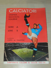 ALBUM CALCIATORI PANINI 1963-64 ANASTATICO+SET COMPLETO FIGURINE DA ATTACCARE