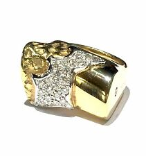 anello MISANI A334 in oro giallo 18 kt e diamanti ct 0,75