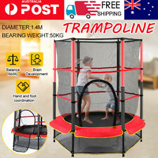 4.5FT Kids Round Trampoline Junior Enclosure Safety Net Jumping Indoor /Outdoor