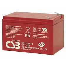 CSB EVH 12150 12V Cyclic Sealed Lead Acid Battery High Capacity 15Ah EVH12150 F2