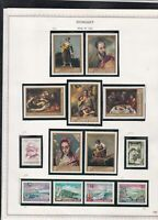 hungary issues of 1968 portrait paintings etc stamps page ref 18310