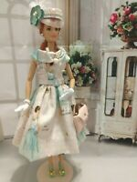 OOAK HANDMADE DOLL CLOTHES FASHIONISTA PINK LADY DESIGN OUTFIT DRESS SET #2