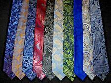 Designer Tie Lot of 10 Nautica Countess Mara Jones New York Paisley Woven NEW