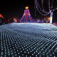 LED Lichterkette Schneefall Lichternetz Lichtervorhang Außenlichterkette LP