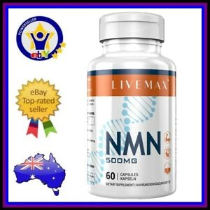 LIVEMAX NMN Nicotinamide Mononucleotide 60 x 500mg Caps Anti Aging NAD+ Booster