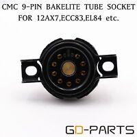 2PCS CMC 9 Pin Bakelite Tube socket for 12AX7 6DJ8 EL84 12AU7 12AT7 ECC82 ECC83